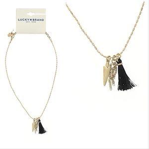 [Lucky Brand] Arrow & Tassel Necklace